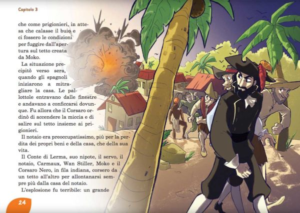 Il Corsaro Nero: i prigionieri. Libro illustrato per bambini.