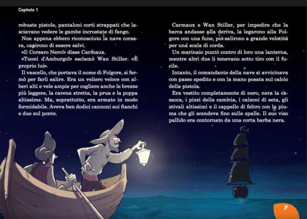 Il Corsaro Nero: il vascello dei pirati. Libro illustrato per ragazzi.