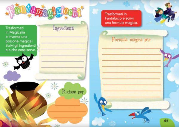 Magicalia e Fantalucio: attività ludiche del libro per bambini