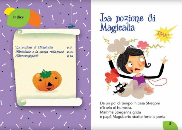 Magicalia e Fantalucio: indice del libro illustrato per bambini